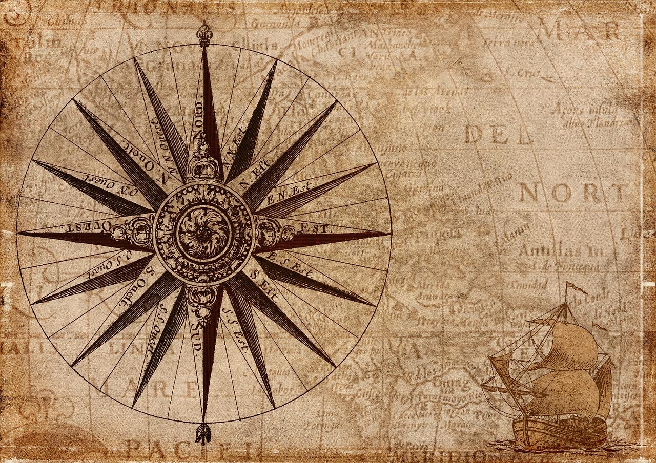 コンパス 古地図