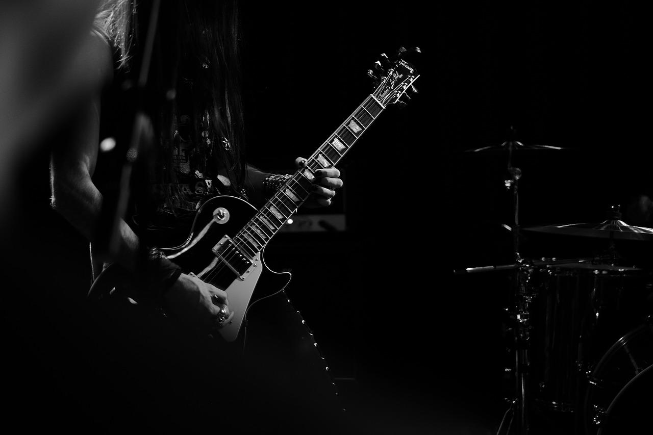 ギター レスポール モノクロ