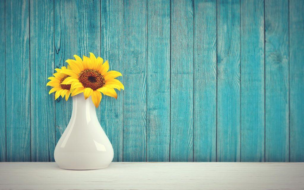 ひまわり 花瓶
