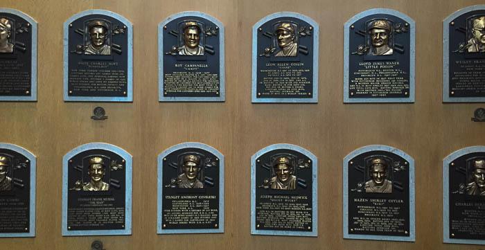アメリカ野球殿堂博物館 レリーフ