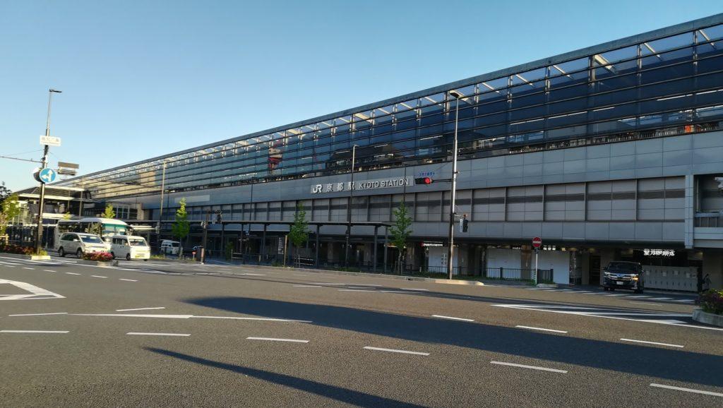 朝 京都駅 快晴