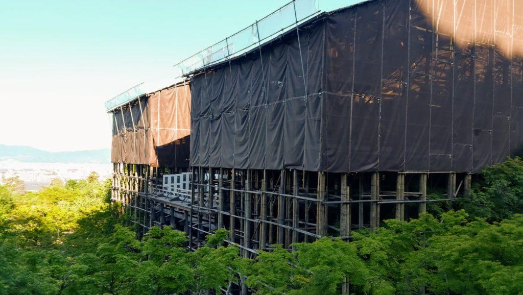 清水寺 舞台 工事中