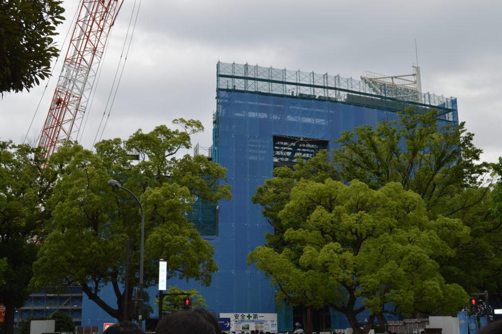 横浜スタジアム レフト側ウィング席 工事
