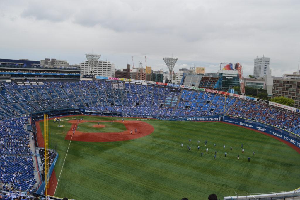 横浜スタジアム ウィング席 上段付近