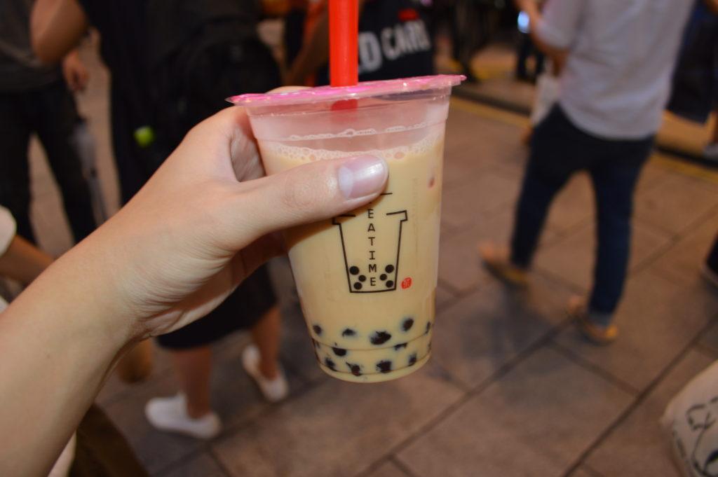 tea time タピオカミルクティー