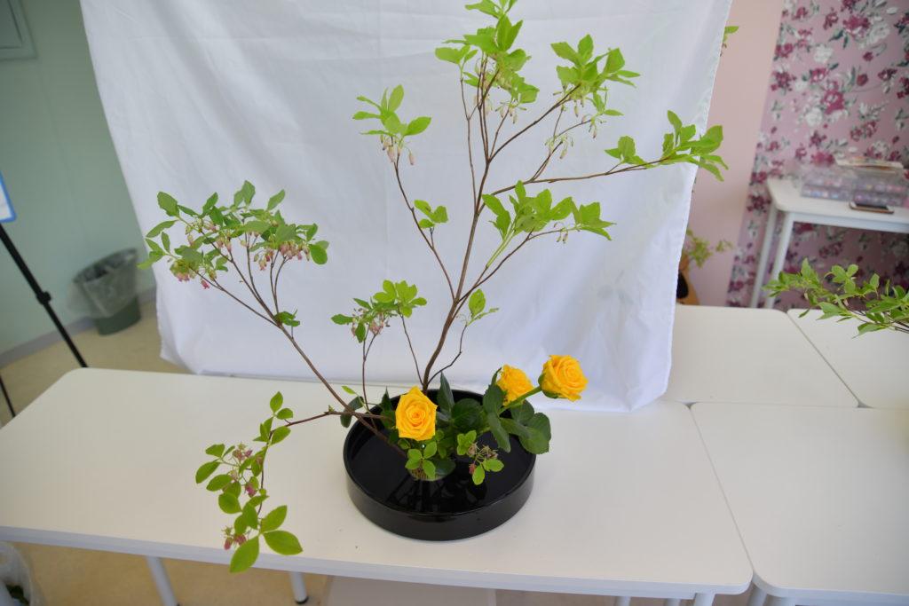 生け花体験 完成品