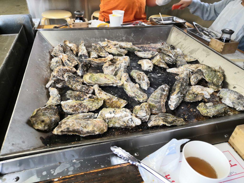 牡蠣食べ放題 様子